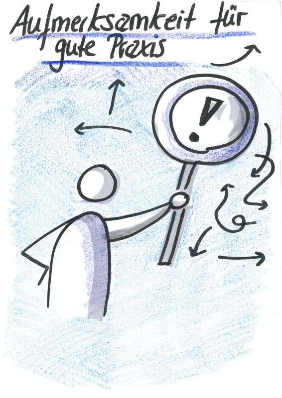 Gestaltungsprinzip: Aufmerksamkeit für gute Praxis