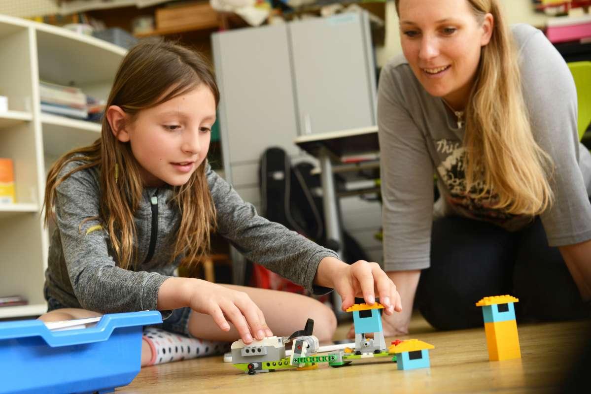 Ausprobieren in der Lego - Robotic AG